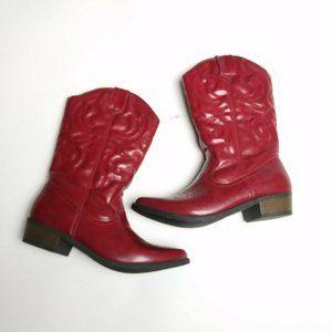 Cherokee Girls Boots Cowboy Western Red Gregoria 5